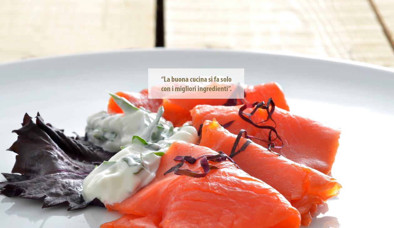 La buona cucina con i migliori salmoni